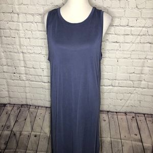 Blue Lush Tank Dress Raw Hem